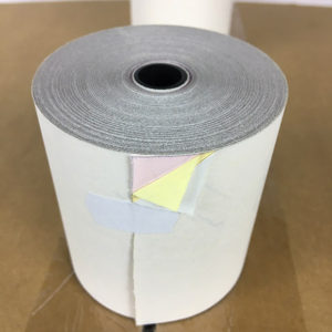 "3 Ply 3"" x 67' Bond Printer Paper Kitchen White/Canary/Pink 50 Rolls"