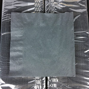 2 Ply Black Beverage Napkin 3000ct. Case