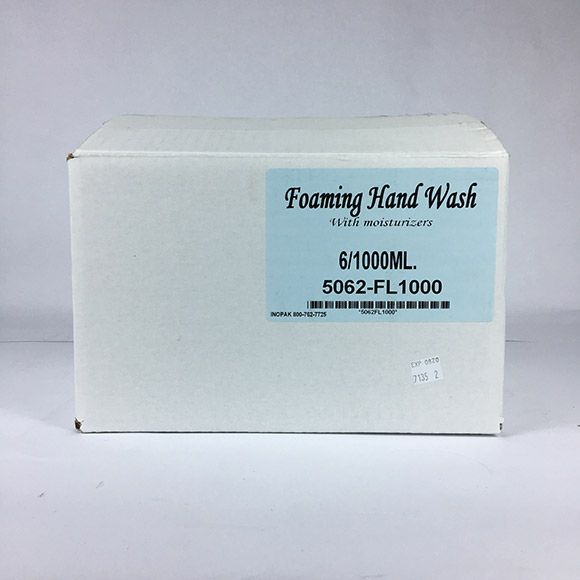 Foaming Hand Soap with Moisturizer 6x1000 mL Pouches and Free Dispensers