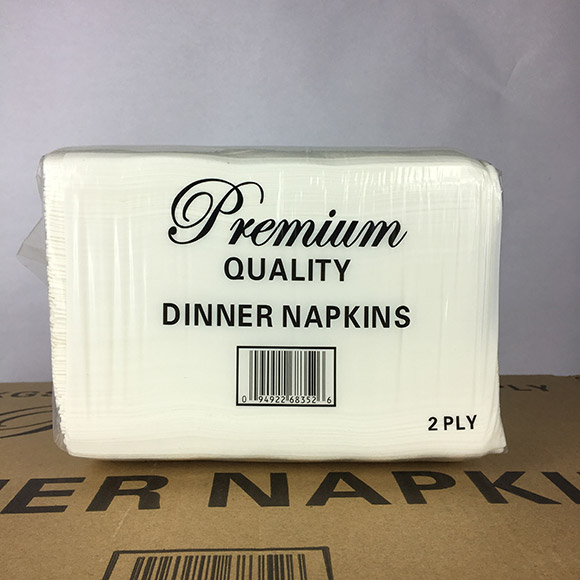 Premium Quality 1/8 Fold 2-Ply Dinner Napkin 3000ct. Case