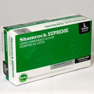 60500 Shamrock Supreme Latex Disposable Powder Free Gloves