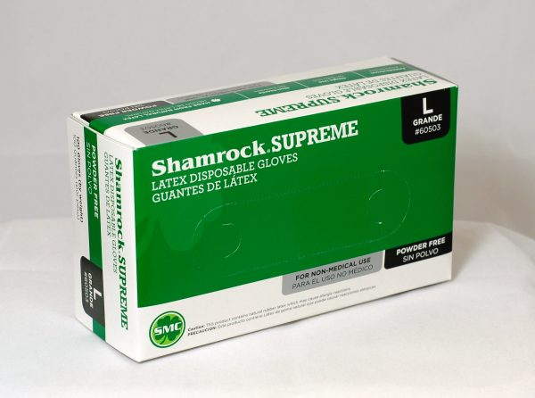 60500 Shamrock Supreme Latex Disposable Powder Free Gloves