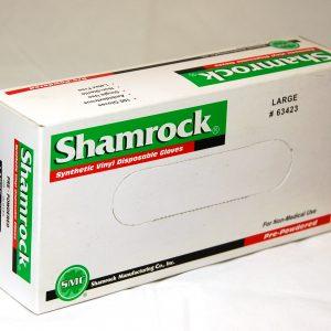 63000 Shamrock Vinyl Disposable Powdered Gloves