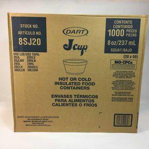 8oz. Extra Squat Foam Cup Dart 8SJ20 (1000ct.)