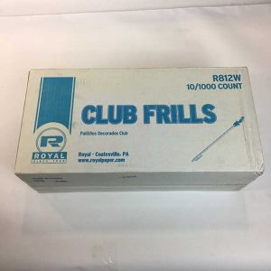 "4"" Frill Picks Case (10 x 1000ct.)"