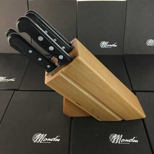 6 Piece Mondin Knife Set - Wood-Like Riveted Handles