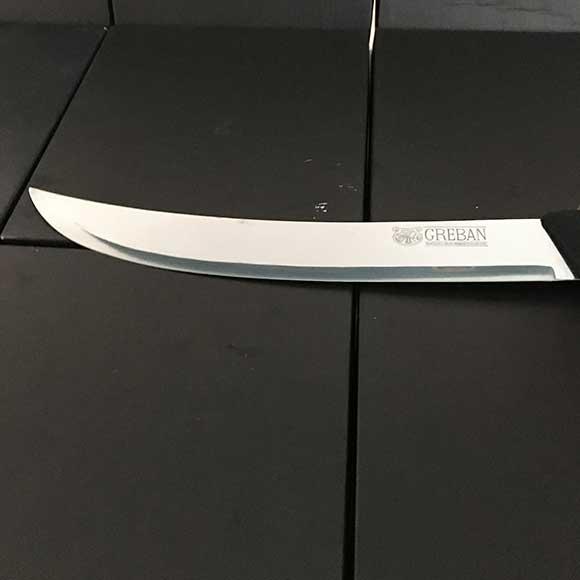 Greban Cimetar Knife Black Handle