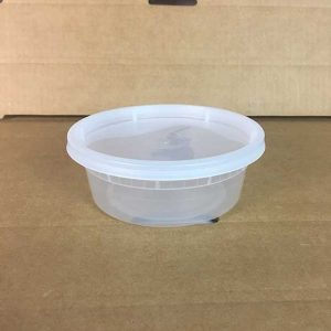 8 oz. Translucent Microwavable Plastic Deli Container and Lid Combo Pack (240 ct.)