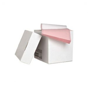 sparco copy paper continuous 3 part ply white/canary/pink