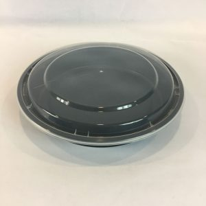 9-Inch-Round-Black-Microwavable-Plastic-Container